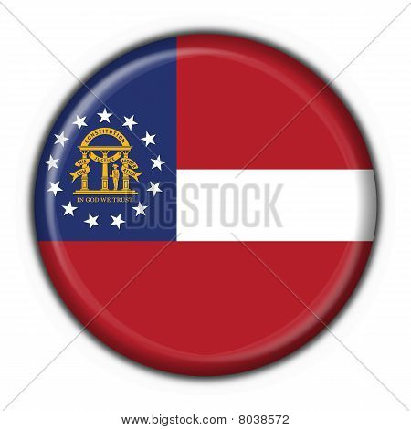 Georgia (usa State) Button Flag Round Shape