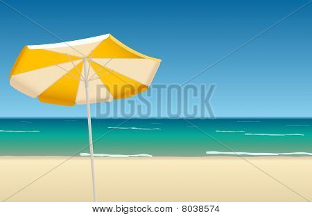 Vector illustration of tropical beach