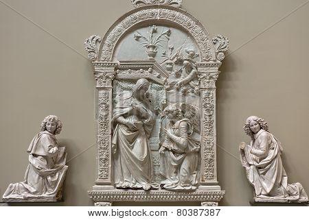 The Annunciation By Giovanni Della Robbia