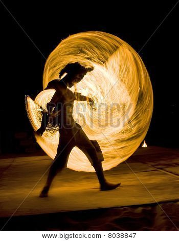 Man Dancing With Fire