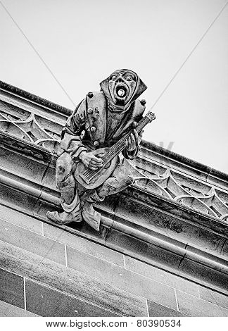 Gargoyle With Mandolin