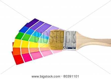 paint brush with paint chips