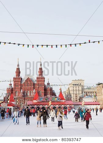 Ice Skating On Red Square
