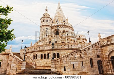 Fisherman Bastion on the Buda Castle hill in Budapest Hungary