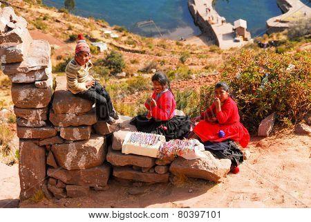 Scenery Around Lake Titicaca, Peru
