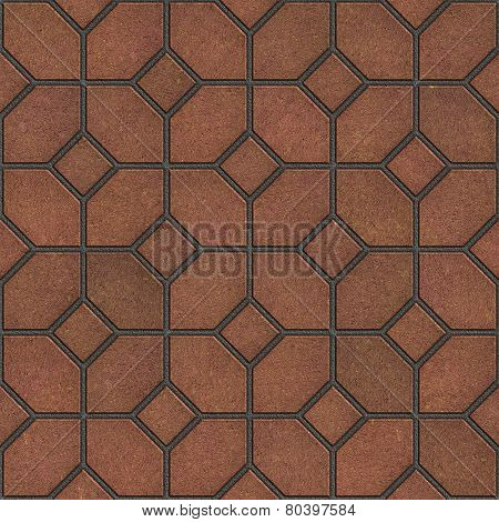 Decorative Figured Brown Pavement Slabs.
