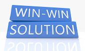 foto of win  - 3d render blue box with text Win - JPG