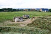 stock photo of ww2  - Germany bunker WW2 Utah Beach is one of the five Landing beaches in the Normandy landings on 6 June 1944 during World War II - JPG