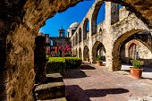 stock photo of wild west  - The Historic Old West Spanish Mission San Jose - JPG