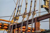 stock photo of pulley  - Planks - JPG
