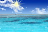 foto of crystal clear  - Crystal clear blue coral water of a Red Sea - JPG