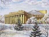 stock photo of novosibirsk  - Picture oil paints on a canvas - JPG
