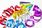 foto of blowers  - Item for party colorful serpentine and blowers - JPG