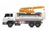 image of boom-truck  - Illustration of mobile crane on heavy truck - JPG