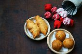 pic of sponge-cake  - Group of Vietnam street food - JPG