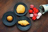 image of sponge-cake  - Group of Vietnam street food - JPG