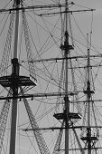 picture of mast  - The masts of sailing ship St - JPG