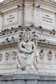 foto of dom  - Statue of Dom Pedro IV at Rossio Square Lisbon Portugal - JPG