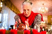 pic of witch ball  - Female Fortuneteller or esoteric Oracle - JPG