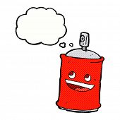 pic of spray can  - cartoon spray can with thought bubble - JPG