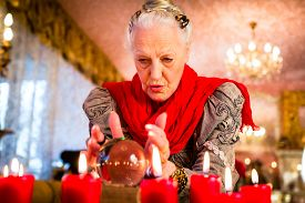 pic of oracle  - Female Fortuneteller or esoteric Oracle - JPG