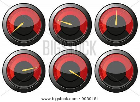 Red speedometers