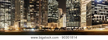 Urban architecture skyscrapers background in Singapore