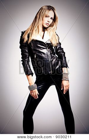 In Black Leather