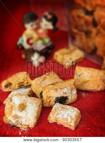 Traditional Mini Stollens With Dried Fruit And Nuts