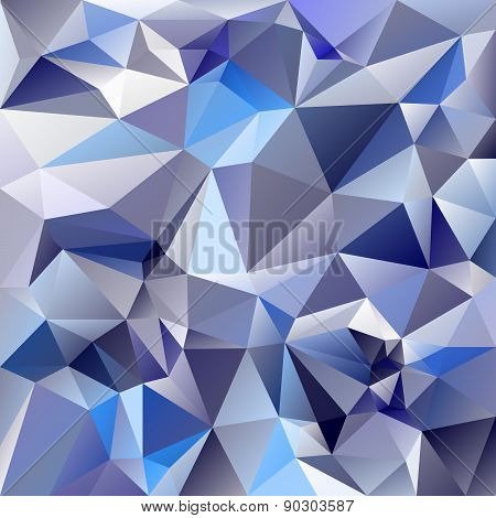 Vector Polygonal Background Pattern - Triangular Design In Ice Glass Co