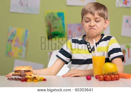 Schoolchild Choosing Healthy Food