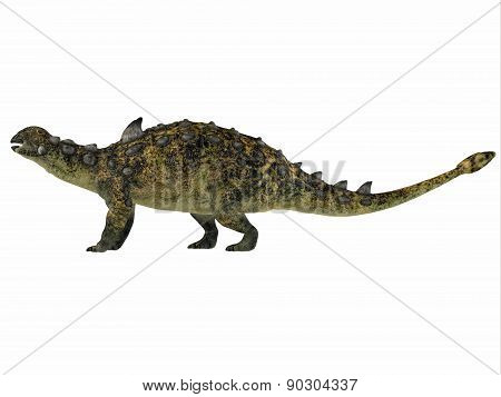 Euoplocephalus Over White