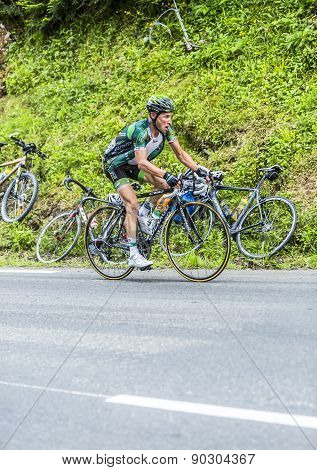 Thomas Voeckler On Col Du Tourmalet - Tour De France 2015