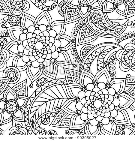 Seamless asian paisley pattern