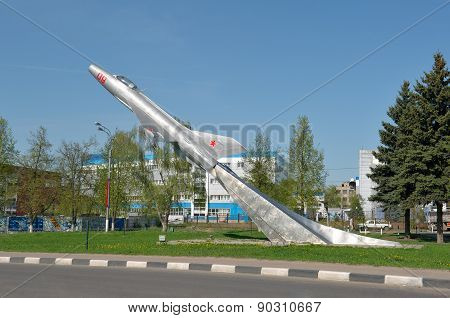 Monument to the Soviet fighter-interceptor MiG-21