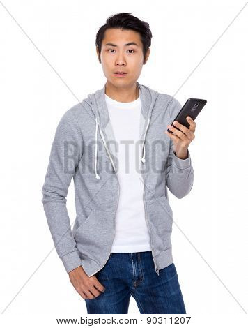 Man use of cellphone