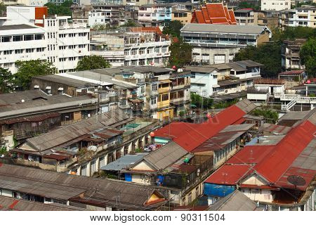 Slum area of Bangkok