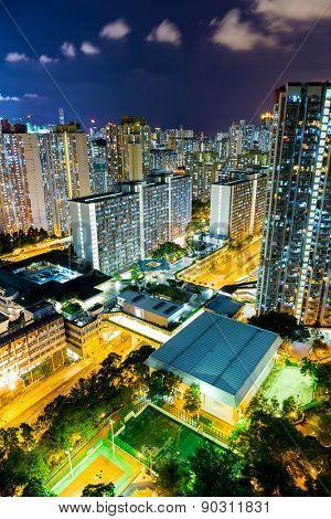 Hong Kong city at nght