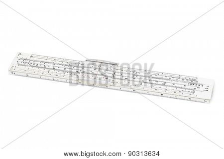 Logarithm ruler isolated on white background