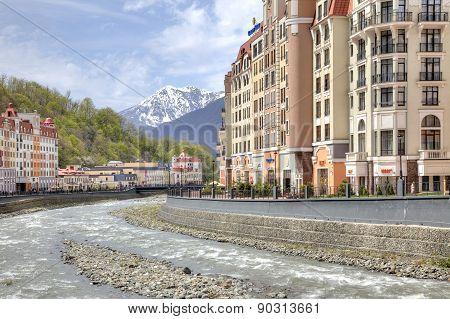 Sochi. The Urban-type Settlement Of Krasnaya Polyana