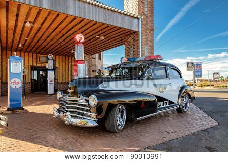Valle, AZ - CIRCA MARCH 2015 - Excellent Police old car in Valle, Arizona, circa March 2015