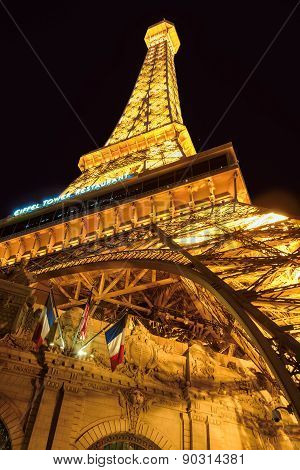 Las Vegas, NV - CIRCA MARCH 2015 - Eiffel Tower, The Strip in Las Vegas Nevada, circa March 2015