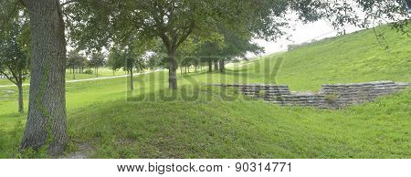 Florida park under the hill