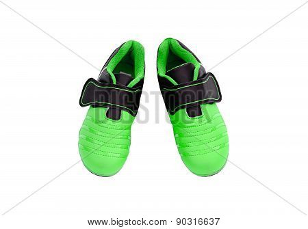 Children's Sneakers On A White Background