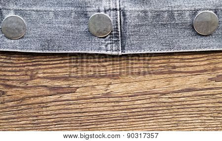 Fastener Of A Jeans Jacket