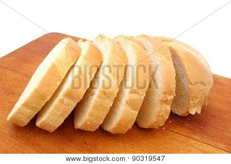 Half Loaf Of Bread Sliced