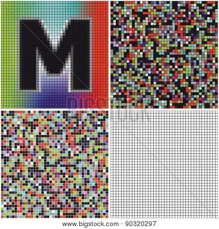 Letter M (mixed Mosaic)