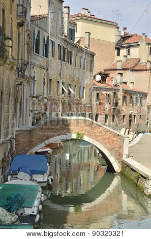 Small Canal In Santa Croce