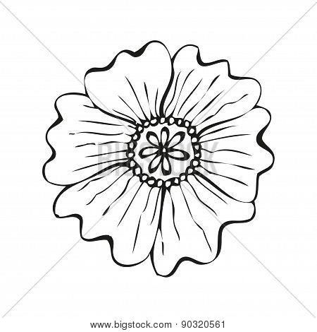 Amazing fantasy flower in tattoo style