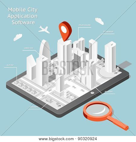 Paper mobile city navigation application software